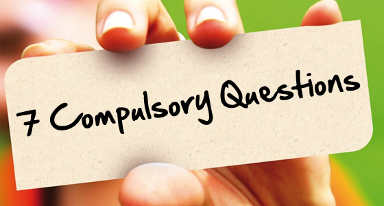 Strategy Checklist – 7 Compulsory Questions